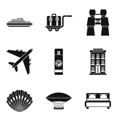 Fresh impression icons set simple style vector