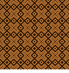 Geometry pattern orange vector image