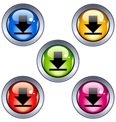 Glossy download buttons vector