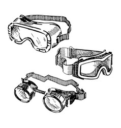 goggles vector image