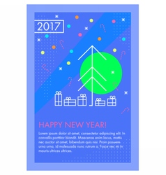 Happy new year greeting card vector