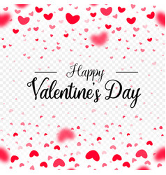 happy valentines day red paper hearts vector image
