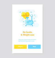 healthy lifestyle banner concept with exercise vector image