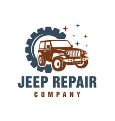 jeep car repair logo vector image