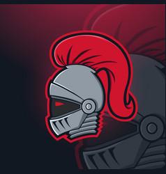 Knights spartan titan esport mascot logo design vector