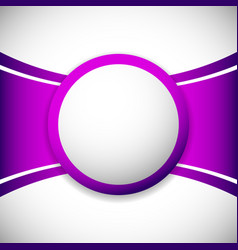 Layout template with blank orb circle at center vector