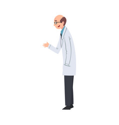 male scientist character in white lab coat vector image