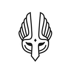 Mask and wing outline design vector
