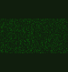 Matrix abstract background with binary numbers vector