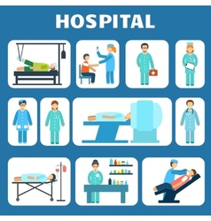 Medical flat pictograms set vector image