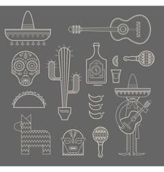 Mexico icons vector image