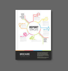 Modern abstract brochure report design template vector