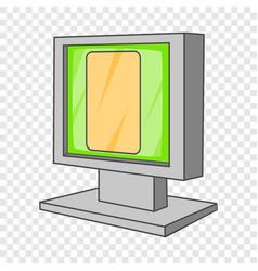 Monitor icon cartoon style vector