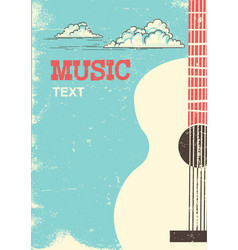 Music festival background with musical instrument vector