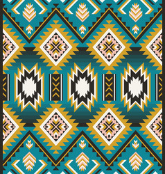 Native american indian aztec geometric seamless vector