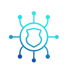Network security icon on white vector
