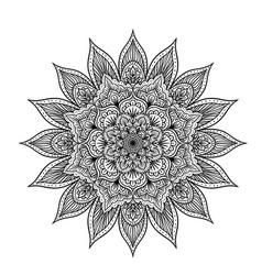 Outline mandala vector