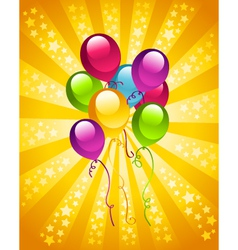 Party birthday balloons vector image