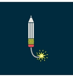 Pensil icon pictograph save for esp10 vector