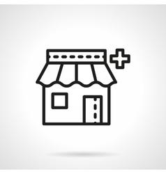 Pharmacy icon black line icon vector