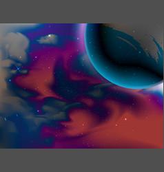 Planet and universe scene vector