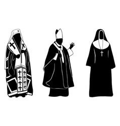 Priests vector