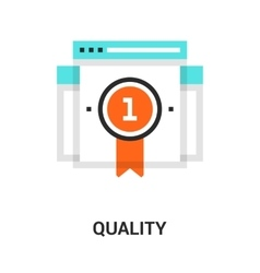 quality icon concept vector image