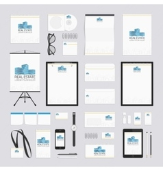 Real estate corporate style template vector image