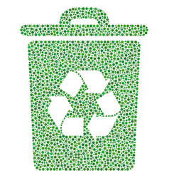 recycle bin composition of small circles vector image