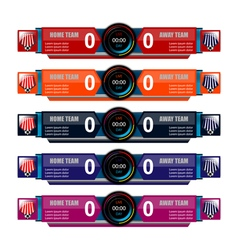 Scoreboard template for sport vector