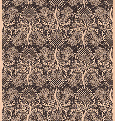 seamless beige lace vector image