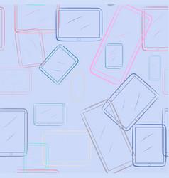 Seamless of handphone or mobilephone wallpaper vector