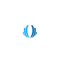shape line abstract company logo vector image