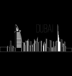 Skyline of dubai vector