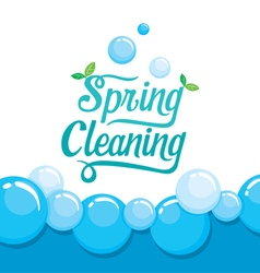 Spring Cleaning Letter Decorating And Foam vector image