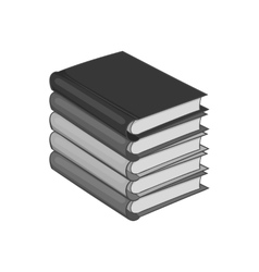 Stack of books icon black monochrome style vector image vector image