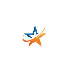 star logo template icon design vector image