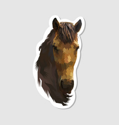 sticker horse head vector image