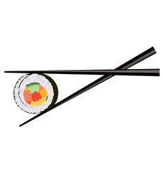 Sushi and chopsticks vector