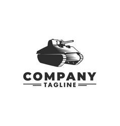 tank logo vector image