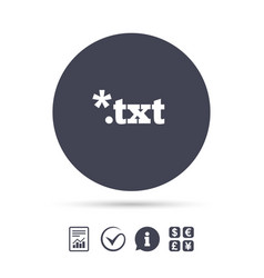 text file icon download txt doc button vector image