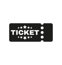 The ticket icon ducket and seat tkt symbol flat vector