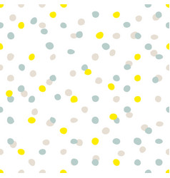 tile pattern with blue yellow and grey dots vector image