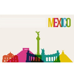 Travel Mxico destination landmarks skyline vector