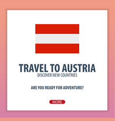 Travel to austria discover and explore new vector