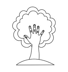 tree abstract icon image vector image