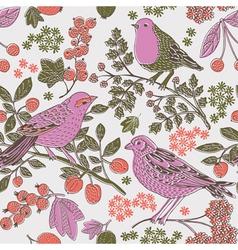 Two tone bird print vector