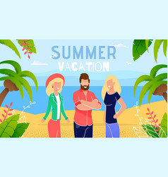 vacation rest on tropical seacoast banner vector image