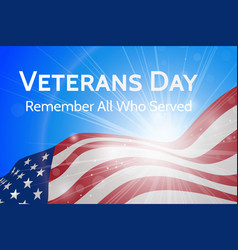 veterans day honoring all those who served poster vector image
