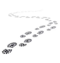walking far footprints outgoing footsteps vector image